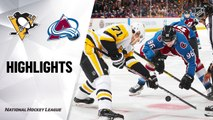 NHL Highlights | Penguins @ Avalanche 1/10/20