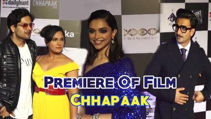 Chhapaak | Deepika Padukone, Ranveer Singh, Rekha & others attend star-studded premiere