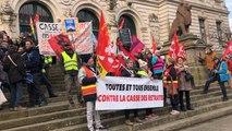 Environ 500 personnes manifestent contre la réforme des retraites