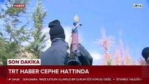 TRT Haber ekibi Libya'daki çatışmaları cephe hattından görüntüledi