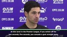 Arteta laments Arsenal focus in Palace draw