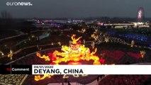 Çin'deki geleneksel fener gösterilerinin bu yılki teması modern teknoloji