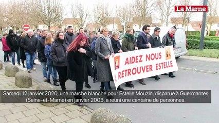 Marche blanche pour Estelle Mouzin à Guermantes, 17 ans après sa disparition.