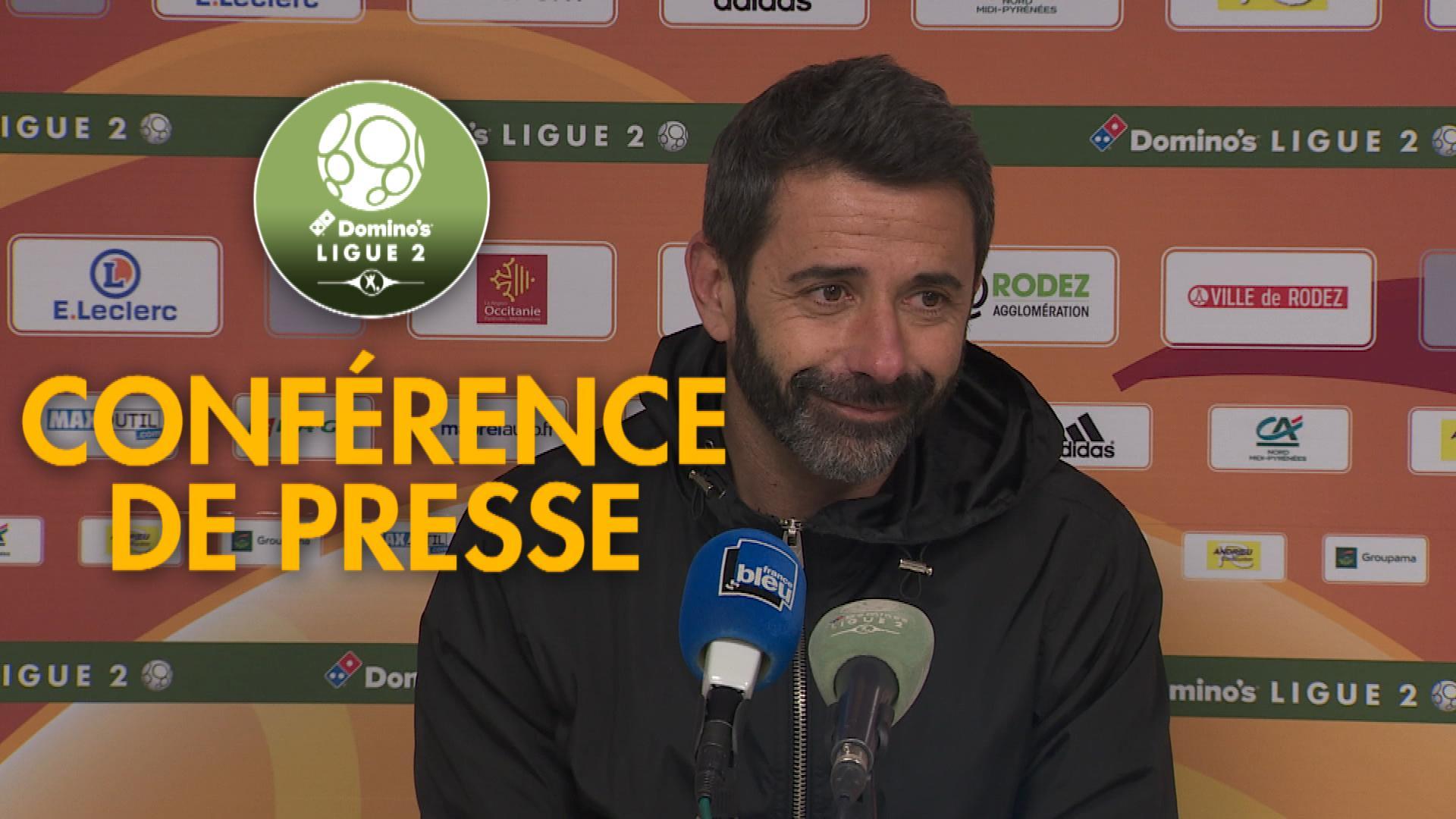 Conférence de presse Rodez Aveyron Football - Châteauroux (1-2) : Laurent PEYRELADE (RAF) - Nicolas USAI (LBC) - 2019/2020