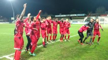 """Football. Les supporteres ont chanté """"Aller Mons"""" après le match. Vidéo Eric Ghislain"""
