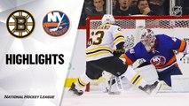 NHL Highlights | Bruins @ Islanders 01/11/20
