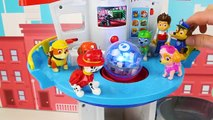 Paw Patrol Toy Learning Video for Kids - Mighty Pups vs Battle Robot-