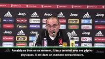 Juventus - Sarri met en avant les statistiques de course à haute intensité de Ronaldo