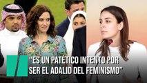 """Rita Maestre sobre Díaz Ayuso: """"Es un patético intento por convertirse en el adalid del feminismo"""""""
