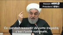 """Catastrophe aérienne en Iran: Rohani appelle à l'""""unité nationale"""""""