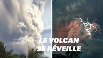 Ce volcan aux Philippines se réveille en crachant une fumée remplie d'éclairs