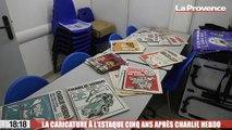 La caricature présentée à l'Estaque cinq ans après l'attentat de Charlie Hebdo
