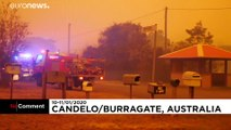 Orange sky keeps firefighters on alert in southern Australia