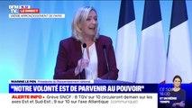 """Marine Le Pen: """"La fracture territoriale, que les gilets jaunes ont mis en avant, est une réalité criante et sera un grand enjeu de la présidentielle"""""""
