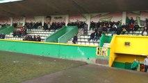 Football Pâturages contre Hornu.Une centaine de personnes pour assister au derby. Vidéo Eric Ghislain