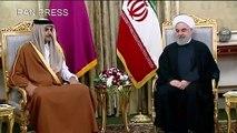 """أمير قطر يؤكد توافق الدوحة وطهران على وجوب """"تخفيف التصعيد"""" في المنطقة"""
