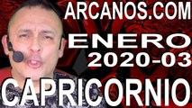 CAPRICORNIO ENERO 2020 ARCANOS.COM - Horóscopo 12 al 18 de enero de 2020 - Semana 03