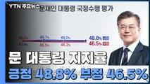 """리얼미터 """"문 대통령 지지율 긍정 48.8%·부정 46.5%"""" / YTN"""