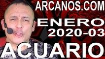 ACUARIO ENERO 2020 ARCANOS.COM - Horóscopo 12 al 18 de enero de 2020 - Semana 03