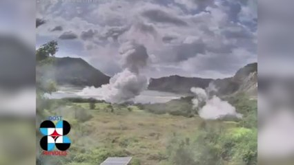Footage Inside the Taal volcano main crater