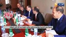 خارجية: وزير الخارجية بوقادوم يستقبل ممثلي حكومة عبد الله الثني المؤقتة