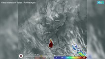 Speed of the spread of ash fall from Taal Volcano eruption (Sunday)