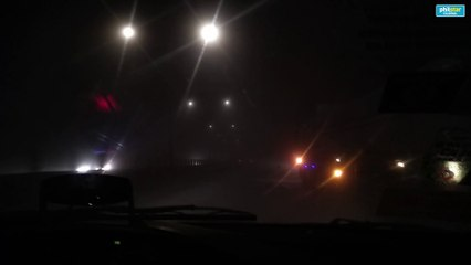 SLEX at 2 am: Low visibility due to Taal Volcano ash fall