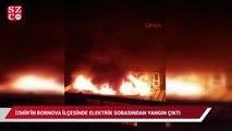 İzmir'in Bornova ilçesinde elektrik sobasından yangın çıktı