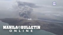 Aerial surveillance of Taal Volcano from Philippine Air Force