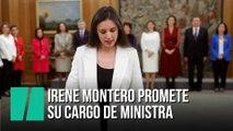Irene Montero promete su cargo de ministra