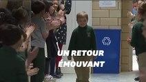 Un garçon de 6 ans survit au cancer et fait un retour touchant à l'école