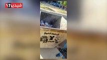 .شباب يرسمون جرافيتى لأردوغان وتميم على صناديق القمامة