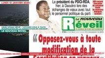 Le Titrologue du 13 Janvier 2020 : Henri Konan Bédié, «Opposez-vous à toute modification de la constitution en vigueur»