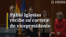 Palbo Iglesias recibe su cartera de vicepresidente