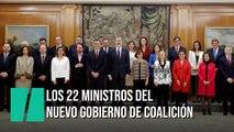 Los 22 ministros de Sánchez prometen sus cargos