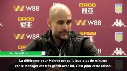"""Guardiola : """"Voilà pourquoi Mahrez joue plus cette saison"""""""
