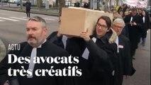 Cercueil, chansons et report de procès :  les avocats se démènent contre la réforme des retraites