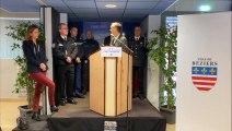 BEZIERS - Le maire Robert Ménard souhaite ses voeux aux forces de sécurité