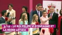 Letizia d'Espagne émue à son arrivée aux obsèques de Pilar de Bourbon
