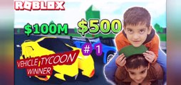 Vehicle Tycoon with limited cash, Roblox SobSamGames