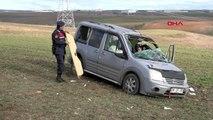 Tekirdağ takla atan araçta 5 kişi yaralandı