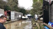 Inondation du chantier naval de la Passagère