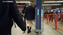Europeans drop their trousers on public transport for annual event