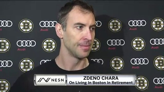 Zdeno Chara On What Boston Means To Him, Where He'll Live In Retirement