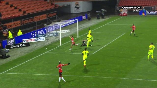 Ligue 2 - 20ème journée : Pierre-Yves Hamel ouvre le score pour Lorient !