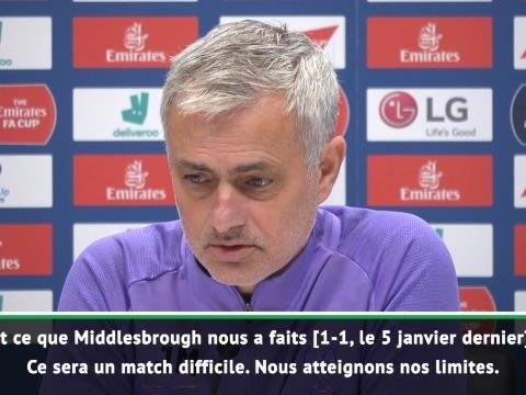 """FA Cup - Mourinho : """"Nous atteignons nos limites"""""""