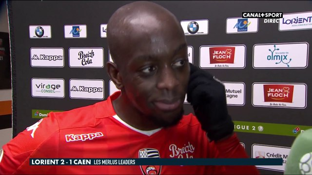 La réaction du lorientais Yoane Wissa - Ligue 2