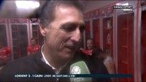 La réaction de Christophe Pélissier après la victoire de Lorient - Ligue 2