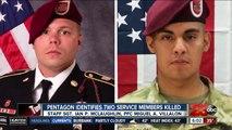 Pentagon identifies two service members killed in Afghanistan