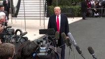 ABD Başkanı Trump, basın mensuplarına açıklamalarda bulundu